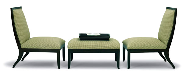 HAWTHORNE ARMLESS LOUNGE CHAIR & OTTOMAN